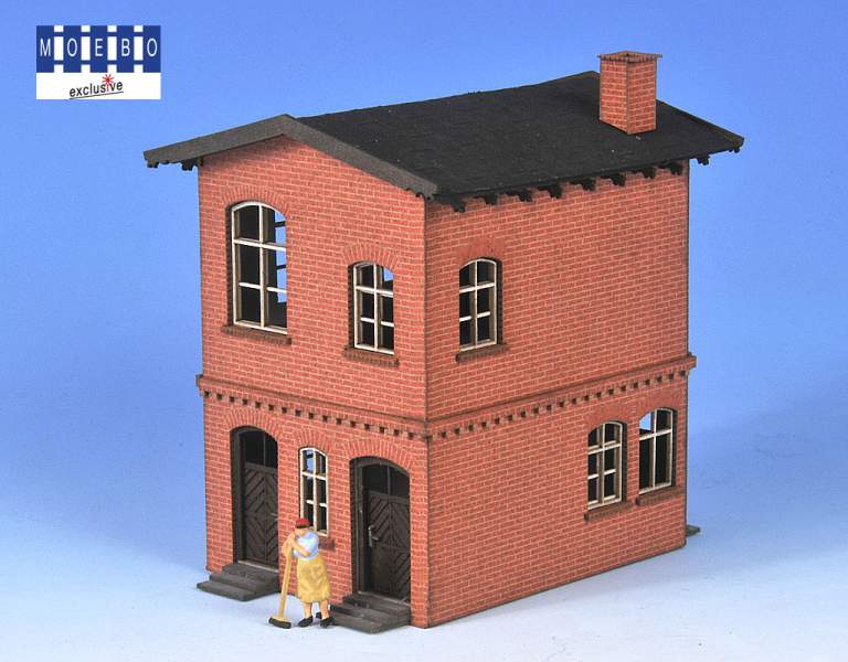 N- 800126 prussian block station -according to original plan -brick red- new 2021